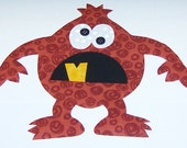 Fabric Applique TEMPLATE Pattern Only CHUNK The Cave Monster....New