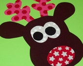 Fabric Applique TEMPLATE Pattern ONLY Zainey Reindeer