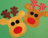 Fabric Applique TEMPLATE Pattern ONLY Little ZAINEY Reindeer....New