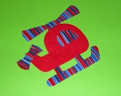 Fabric Applique TEMPLATE Pattern Only CHUBBY HELICOPTER...New