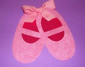 Applique PDF TEMPLATE Pattern ONLY Ballet Slippers...New
