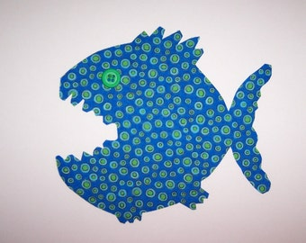 Fabric Applique TEMPLATE ONLY Monster Fish