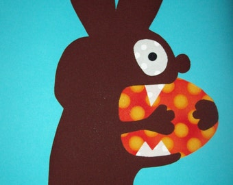 Fabric Applique TEMPLATE ONLY Monster Bunny