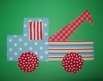 Fabric Applique TEMPLATE ONLY Tow Truck