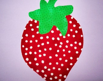Fabric Applique TEMPLATE ONLY Strawberry