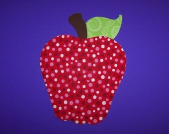 Fabric Applique TEMPLATE ONLY Juicy Apple