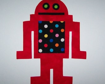 Fabric Applique TEMPLATE ONLY Robot