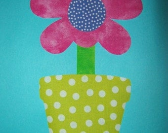 Fabric Applique TEMPLATE ONLY Potted Flower