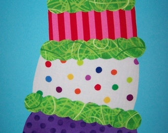 Fabric Applique TEMPLATE ONLY Crazy Cake