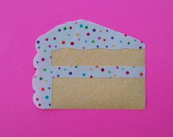 Fabric Applique TEMPLATE ONLY  Slice Of Cake