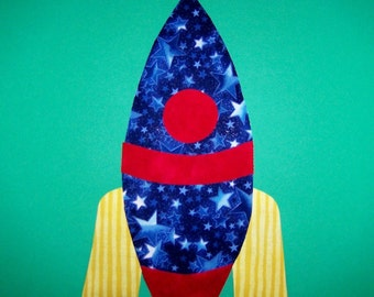 Fabric Applique TEMPLATE ONLY Space Rocket Ship