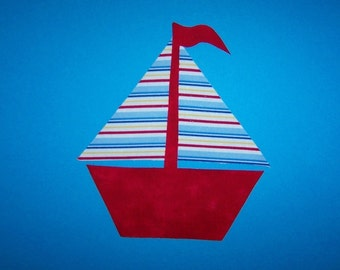 Fabric Applique TEMPLATE ONLY Sailboat