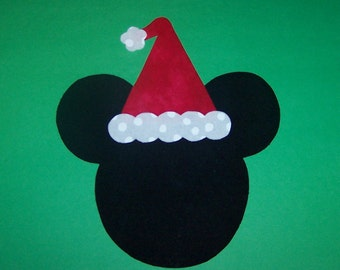 Fabric Applique TEMPLATE PATTERN Only Mickey Minnie Mouse SANTA