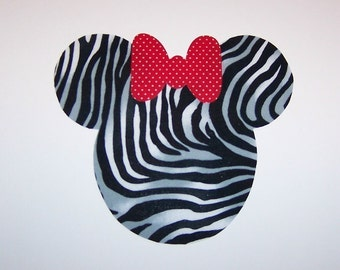 Fabric Applique TEMPLATE Pattern ONLY Minnie Mouse With Bow