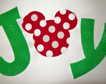 Fabric Applique TEMPLATE ONLY Mickey or Minnie Mouse JOY