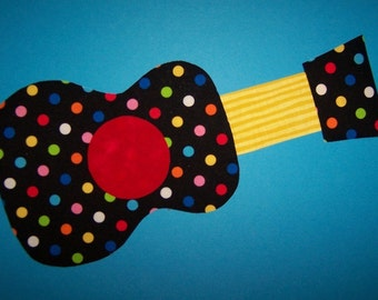 Fabric Applique TEMPLATE ONLY Guitar