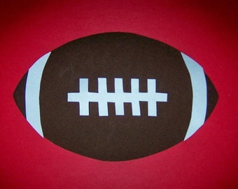 Fabric Applique TEMPLATE ONLY Football