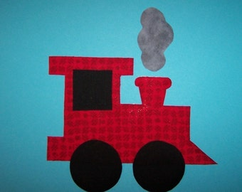 Fabric Applique TEMPLATE ONLY Train