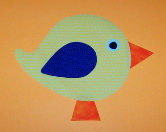 Fabric Applique TEMPLATE Pattern Only BIRD.....New