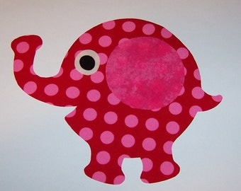 Fabric Applique TEMPLATE Pattern ONLY Chubby Elephant .....New