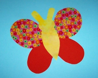 Fabric Applique TEMPLATE Pattern ONLY Spring Butterfly...NEW