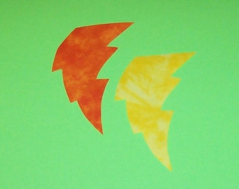 Fabric Applique TEMPLATE ONLY Lightning Bolt.....New