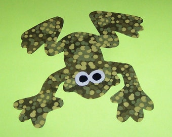 Fabric Applique TEMPLATE Pattern ONLY Leap Frog....New
