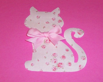 Fabric Applique TEMPLATE Pattern Only PRETTY KITTY.....New