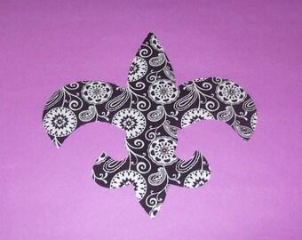 Fabric Applique Template PATTERN Only...Fleur De Lis Symbol