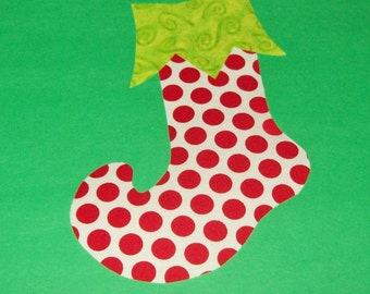 Fabric Applique TEMPLATE Pattern Only WHIMSICLE Christmas STOCKING....New