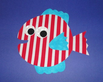 Applique TEMPLATE Pattern Only PUFFER FISH...New