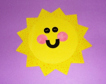 Fabric Applique TEMPLATE Pattern Only Summer SUNSHINE...New