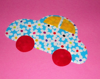 Fabric Applique PDF TEMPLATE Pattern ONLY Hippie Beach Car...New