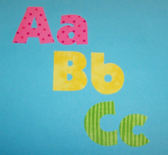 Fabric applique patterns only mini alphabet letters full for Fabric letter templates