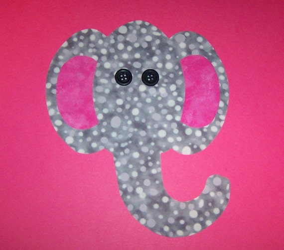 Fabric Applique TEMPLATE ONLY Elephant Face.....New