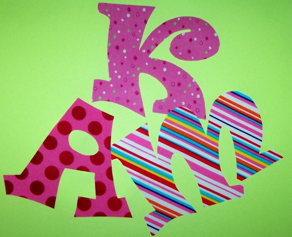Fabric applique patterns only whimsy font alphabet by etsykim for Fabric letter templates