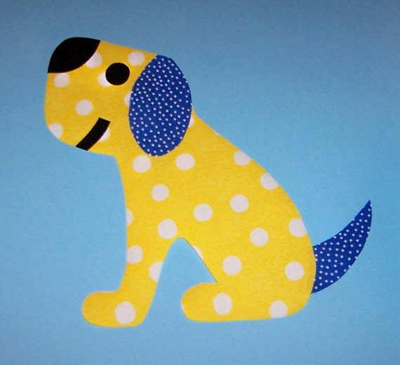 Fabric Applique TEMPLATE Pattern Only Perfect POOCH.....New