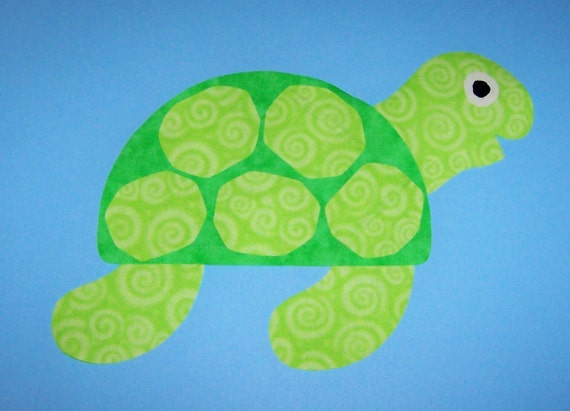Fabric Applique TEMPLATE Pattern Only Large SEA TURTLENew