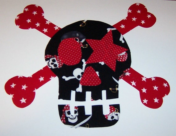 Fabric Applique TEMPLATE ONLY Star Eye LARGE Skull And By