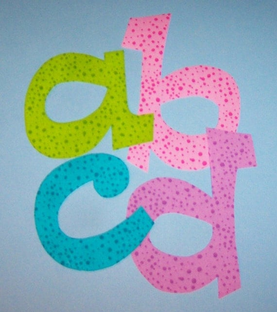 Fabric applique template pattern only lowercase set for Fabric letter templates