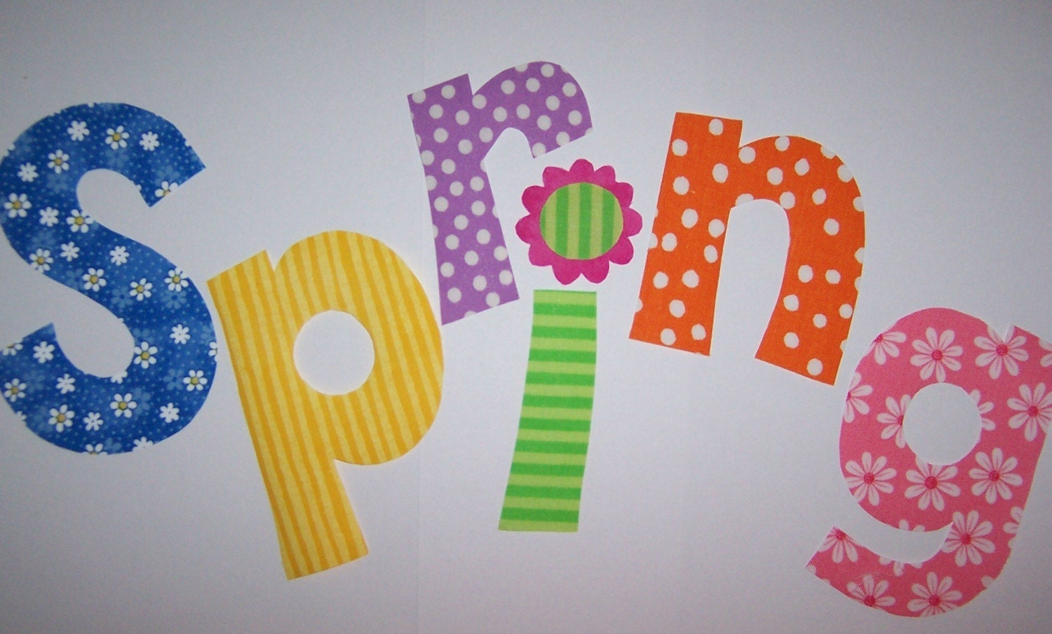 material letters template - fabric applique template only spring alphabet letters word