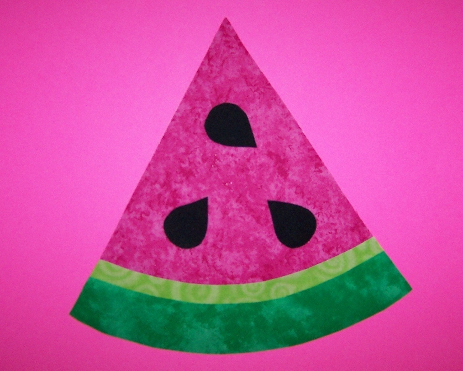 Fabric Applique Template Only Watermelon Slice