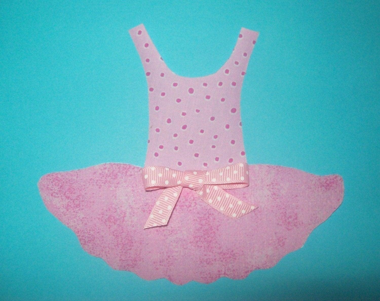 applique template only ballerina tutu dance dress