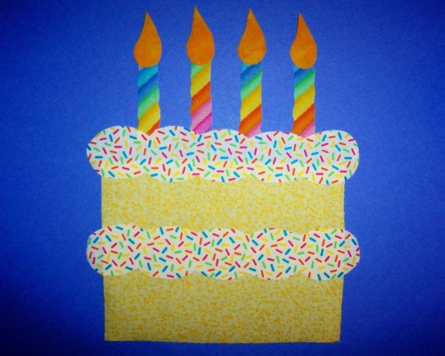 Birthday Cake Design Template : Fabric Applique TEMPLATE ONLY Birthday Party Cake