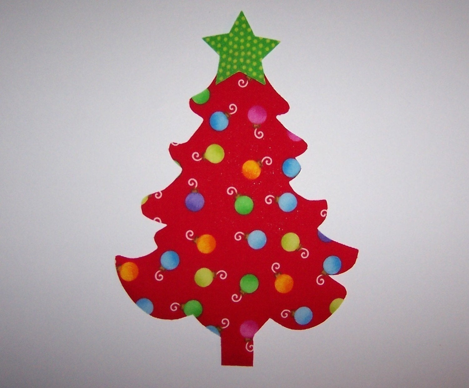 Fabric Applique TEMPLATE ONLY Whimsical Christmas Tree With