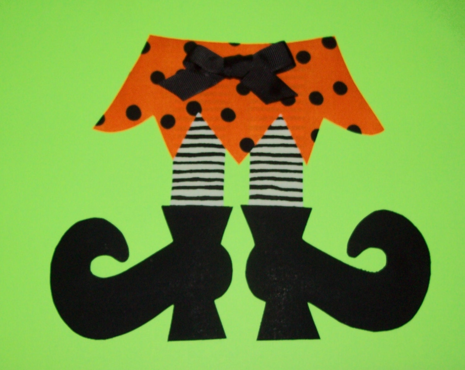 Fabric Applique PDF TEMPLATE Pattern ONLY Witch Skirt Legs And