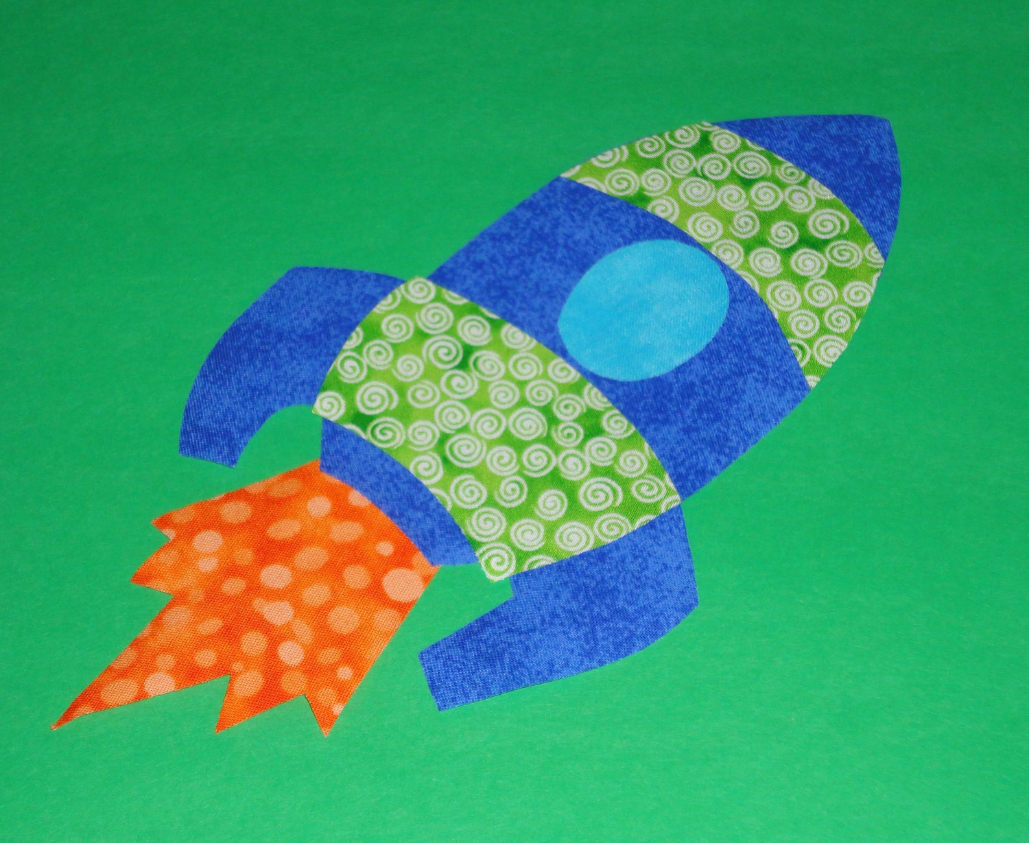 Applique TEMPLATE Pattern Only BLAST OFF Rocket.....New