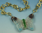 RESERVED for hcohen57-- Butterflies Are Free Pate de Verre Fused Glass Necklace
