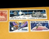SPACE Travel .. Unused Vintage Postage Stamps .. Enough to mail 5 letters