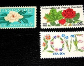 Flower Power III .. Unused Vintage Postage Stamps enough for you to mail 24 letters